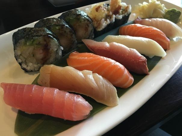 Sushi Osawa - sushi lunch (up close)