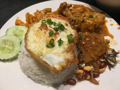 Food Terminal - nasi lemak with curry chicken